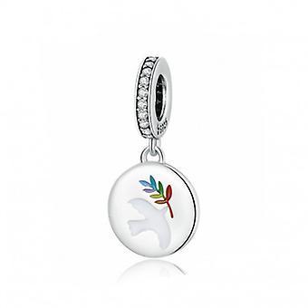 Sterling Silver Pendant Charm Peace Dove - 7017