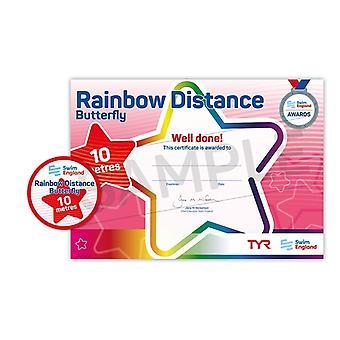 ASA zwemmen Engeland Rainbow beroerte Award - Butterfly - 10m