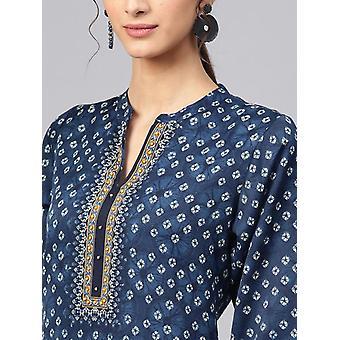 Etnisk bluser India Kjole Klær Kurtha Lang Kurti Pakistansk Bluse Bomull