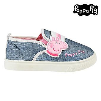 Children's casual trainers peppa pig blue