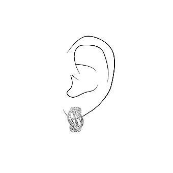 Traveller Clip earrings Rhodium plated Swarovski Crystals - 157394