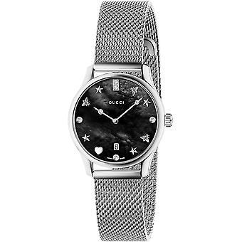 Gucci Ya1265001 G-timeless Steel Mesh Black Dial Ladies Watch