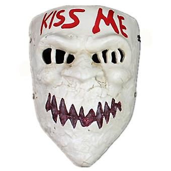 The Purge Mask Kiss Me Halloween Horror Devil Mask Cosplay Party Props