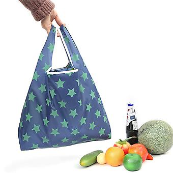 Portable Shopping Bag Foldable 190t Oxford Cloth Printing Starry Household Grocery Bag