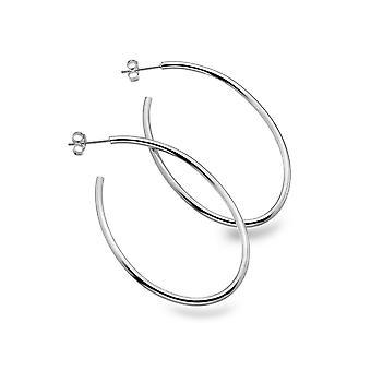 Sterling Silver Hoop Earrings - Origins Oval Large