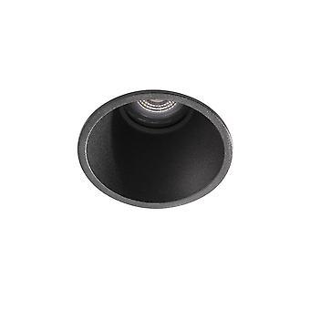 Wpuszczony sufit downlight jasny czarny, GU10, IP65