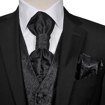 Paisley Wedding Vest Set Maat 54 Zwart Heren