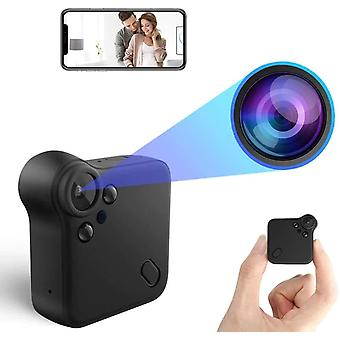 Mini Spy Camera 1080P HD Hidden Camera WiFi Small Wireless Security Surveillance Cameras with Night Vision & Motion Detection & Wide Angle for Home Indoor Outdoor Portable