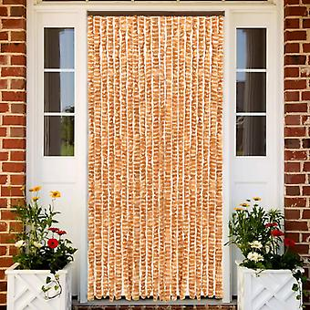 Insect Curtain Ochre And White 56x185 Cm Chenille