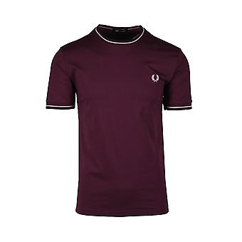 Fred Perry Twin T-shirt Mahonie/roze
