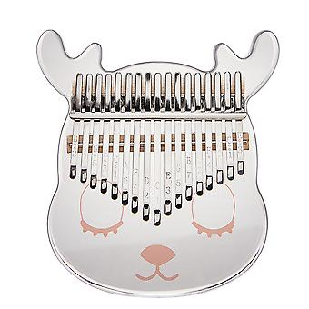 Kalimba Thumb Piano 21 Keys Cartoon Deer Acrylic Mini Portable Musical Instrument For Kids