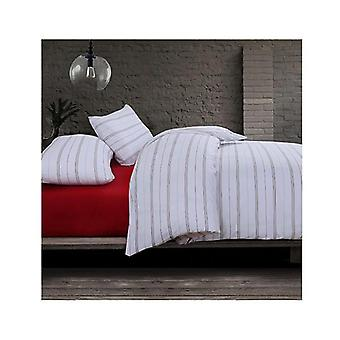 Amsons Cotton Blend Queen Quilt Cover Set Boston White Red