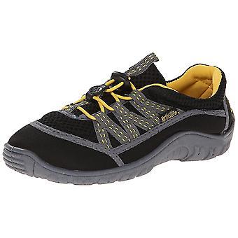 Northside Brille II Hiking Boot (Infant/Toddler/Little Kid), Black/Yellow, 6 M US Big Kid