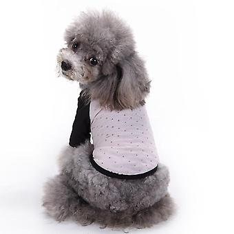 Dog cat clothes princess chiffon striped vest spring and summer clothing