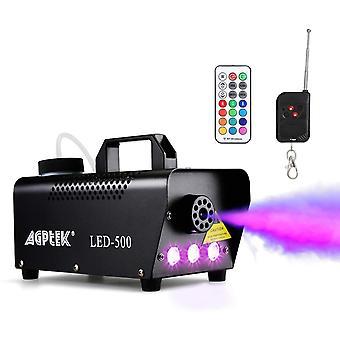 FengChun Automatische Nebelmaschine mit Farbigem LED-Lichteffekt, Kabellose Kabelgebundene