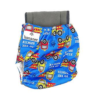 Hananee Baby Cloth Diapers with Bamboo Charcoal Insert Pad All-In-One, Car