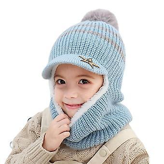 Barn vinter varm skydd öronlock, barnhatt och halsduk
