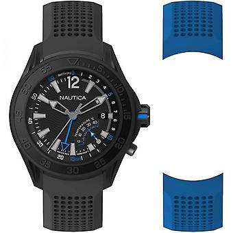 Nautica watch breakweather (depth indicator) special pack + extra strap napbrw005