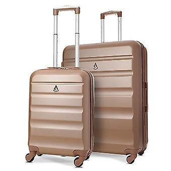 Ensemble de bagages à bagages à coque dure léger Aerolite (cabine et grande, or rose)