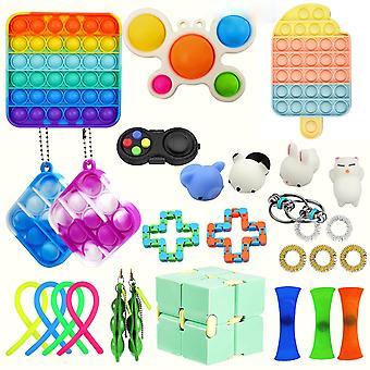 Rolig anti stress Push Bubble Sensory Fidget Leksak Autism Anti Stress Reliever Leksaker Vuxen Barn