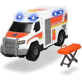 203306002 Medical Responder, Rettungswagen, Spielzeugauto inkl. Trage, Heckklappe zum Öffnen, Licht