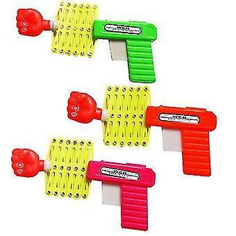 L 3pcs plastique élasticité télescopique pistolet poing attaque magic toy gun x696