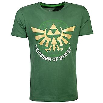 Nintendo - Golden Kingdom Of Hyrule Uomo X-Large T-Shirt - Verde