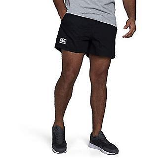 Canterbury Herren Professionelle Baumwolle Rugby Shorts, schwarz, mittel