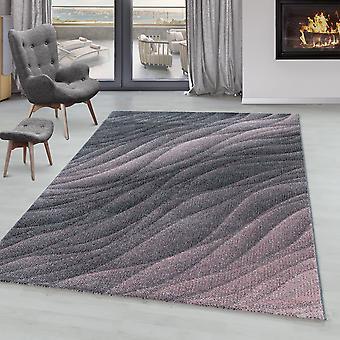 Tappeto soggiorno ONTARIO Short Pile Soft Pattern Linee albero design moderno