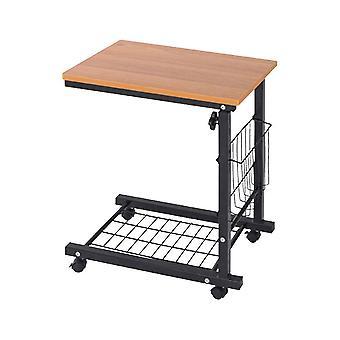 Portabil noptieră Lift mic de masă Tablet Desk Raft de carte mici pentru lazy people (maro deschis)