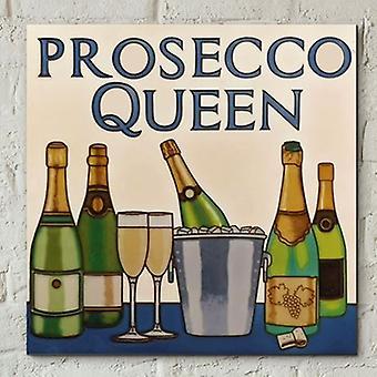 Azulejo 8x8 Prosecco Queen Wall Art