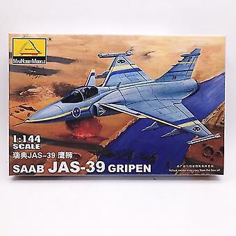 חדש 80425 שבדיה ajs-39 מטוס קרב צבאי הרכבה פלסטיק מודל sm47516