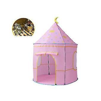 Taitettava Prinsessalinna Teepee Teltta Lapset Pinkki