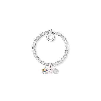 Rainbow Charm Armband insvept med kristaller från Swarovski - Initial O