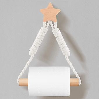 selbstklebende Toilettenpapierhalter Handtuchseilhalter Star Vintage Hanfseil Dekor für Badezimmer