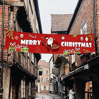 (B) Merry Christmas Outdoor Banner Santa Claus Xmas Decorations Home Xmas Decor DIY