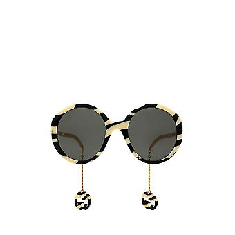 Gucci GG0726S sort / elfenben kvindelige solbriller