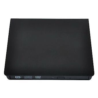 (Black) USB 3.0 External DVD Drive RW CD Writer Drive Burner Reader Player for Laptop PC