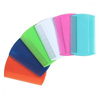 6pcs Flea Lice Combs Sided Fine Tooth Hair Tooths Flea Hair Pet Hair Grooming Comb 6 Colors