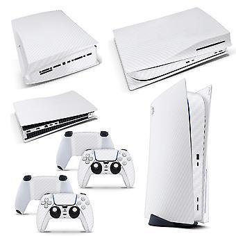 游戏机 5 PS5 磁盘控制台皮肤乙烯基盖贴纸 + 2 控制器皮肤集