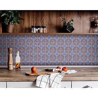 """6"""" X 6"""" Blue Rust Zio Removable Peel and Stick Tiles"""