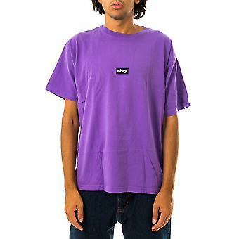 T-shirt uomo obey black bar heavyweight tee 166912615.orc
