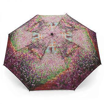 Paraply automatiskt Pocket paraply motiv Claude Monet sommarträdgård