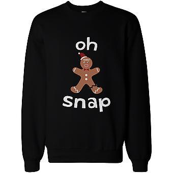 О Snap пряники Cookie Человек со сломанной ногой Смешные X-Mas Unisex Sweatshirt