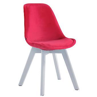 Chaise de salle à manger - Chaises de salle à manger - Chaise de cuisine - Chaise de salle à manger - Moderne - Rouge - Bois - 48 cm x 55 cm x 84 cm