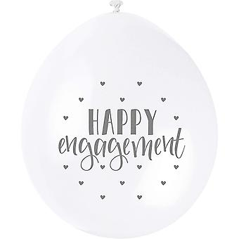 56069 - 9' Latex Happy Engagement Ballons, Packung mit 10 Stück