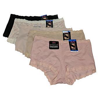 Maidenform Women's Panties Reg 5-pack Microfiber Boy Short Pink 722292