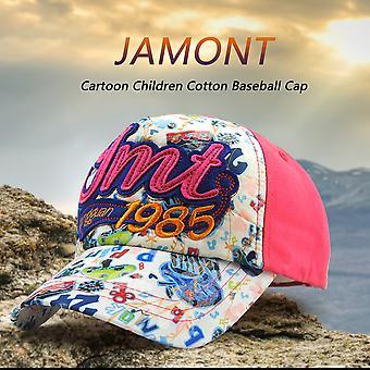 Jamont 2017 Cartoon Children Cotton Lovely Girls Letter Printed Baseball Cap
