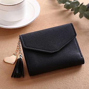 Damen Geldbörse Süße Student Quaste Anhänger Kurze Brieftasche Trend Kleine Mode Pu Brieftasche 2020 Münze Geldbörse Damen Kartentasche für Frauen