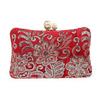 Sequin Embroidery Wedding Clutch Handbag